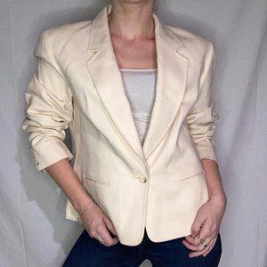 Pendleton Virgin Wool Cream Blazer